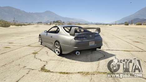 GTA 5 Toyota Supra JZA80 v1.4 rear left side view