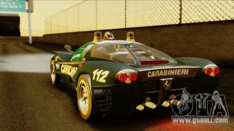 Ferrari P7 Carabinieri for GTA San Andreas left view