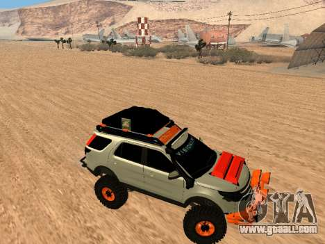 Ford Explorer 2013 Off Road for GTA San Andreas back view