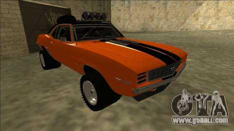 Chevrolet Camaro SS Rusty Rebel for GTA San Andreas left view