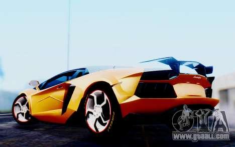 Lamborghini Aventador Mansory Carbonado Color for GTA San Andreas back left view