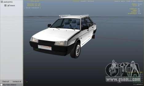 GTA 5 VAZ 21099 v3 wheel