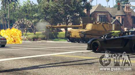 GTA 5 M109 (SAU) Paladin front right side view