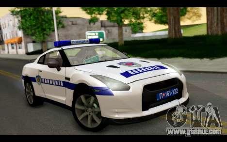 Nissan GT-R Policija for GTA San Andreas
