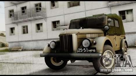 GAZ-69A IVF for GTA San Andreas