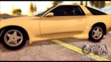 Toyota Supra MK3 Tunable for GTA San Andreas bottom view