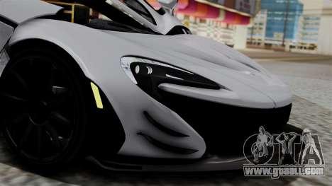 McLaren P1 GTR-VS 2013 for GTA San Andreas back view