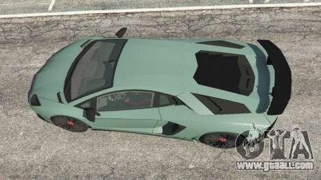 GTA 5 Lamborghini Aventador Super Veloce v0.2 back view
