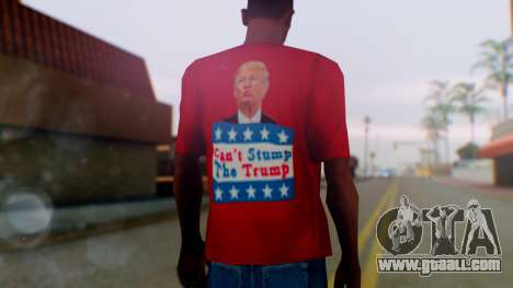Trump for President T-Shirt for GTA San Andreas third screenshot