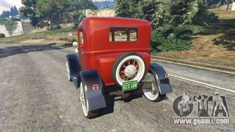 GTA 5 Ford Model A [mafia style] rear left side view