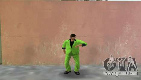 Green suit for Tommy for GTA Vice City second screenshot