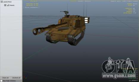 GTA 5 M109 (SAU) Paladin wheel