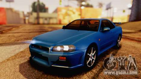 Nissan Skyline GT-R R34 V-spec 1999 for GTA San Andreas