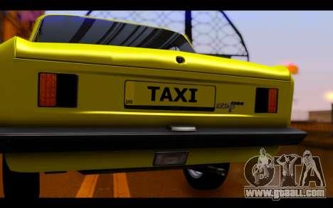Zastava 125PZ Taxi for GTA San Andreas inner view