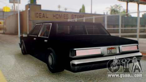 Unmarked Police Cutscene Car Stance for GTA San Andreas left view