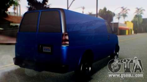 GTA 5 Vapid Speedo for GTA San Andreas left view