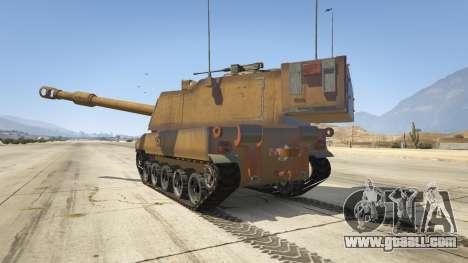 GTA 5 M109 (SAU) Paladin rear left side view