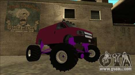 GTA 5 Vapid Speedo Monster Truck for GTA San Andreas right view