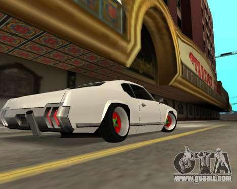 Sabre Boso for GTA San Andreas back view