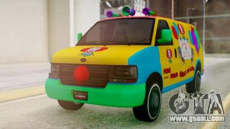 GTA 5 Vapid Clown Van for GTA San Andreas right view