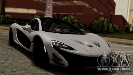 McLaren P1 GTR-VS 2013 for GTA San Andreas right view