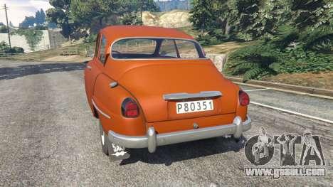 GTA 5 Saab 96 rear left side view