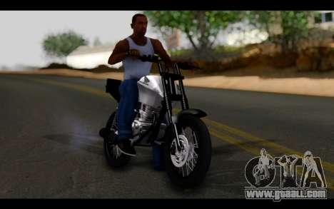 Honda CG Titan 150 Stunt Imitacion for GTA San Andreas inner view