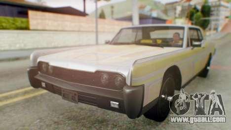 GTA 5 Vapid Chino Tunable IVF for GTA San Andreas upper view