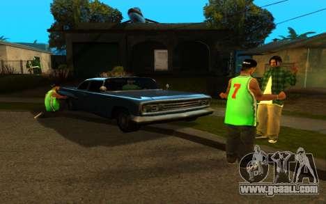The revival of the street ganton for GTA San Andreas second screenshot