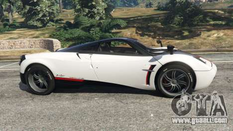 GTA 5 Pagani Huayra 2013 v1.1 [grey rims] left side view