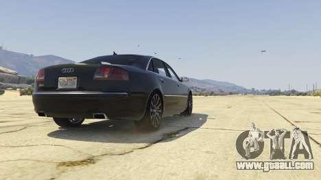 GTA 5 Audi A8 v1.2 back view