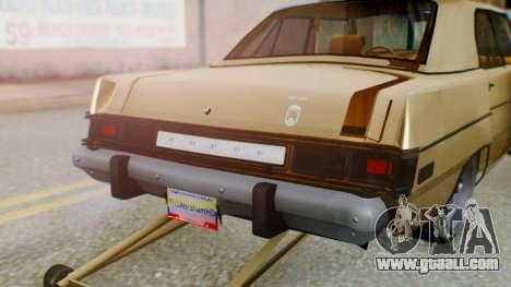 Dodge Dart 1975 Estilo Drag for GTA San Andreas inner view