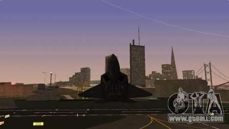 F-22 Raptor PJ for GTA San Andreas back view