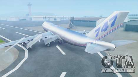 Boeing 747-400 Prototype (N401PW) for GTA San Andreas left view