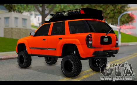 Chevrolet Traiblazer Off-Road for GTA San Andreas left view