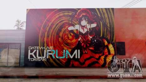 Kurumi Tokisaki Graffiti for GTA San Andreas