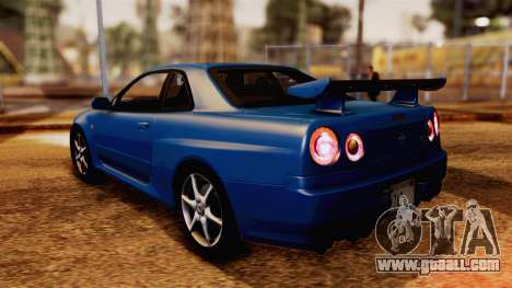 Nissan Skyline GT-R R34 V-spec 1999 for GTA San Andreas left view