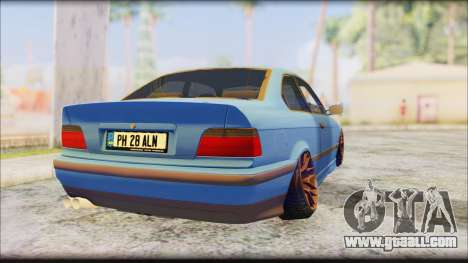 BMW M3 E36 Stanced-Hella for GTA San Andreas left view