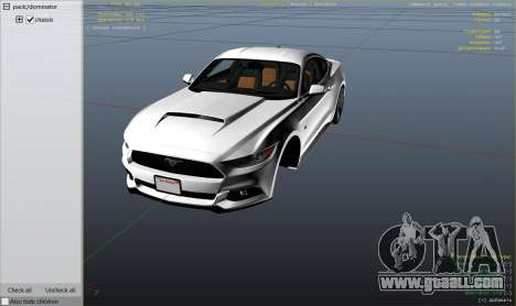GTA 5 Ford Mustang GT 2015 v1.1 right side view