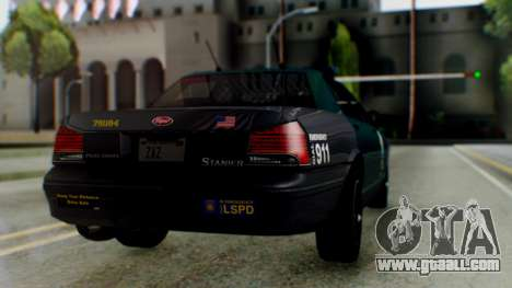 GTA 5 Vapid Stanier II Police IVF for GTA San Andreas left view