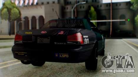 GTA 5 Vapid Stanier II Police IVF for GTA San Andreas left view