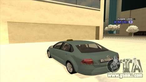Volkswagen Polo for GTA San Andreas bottom view
