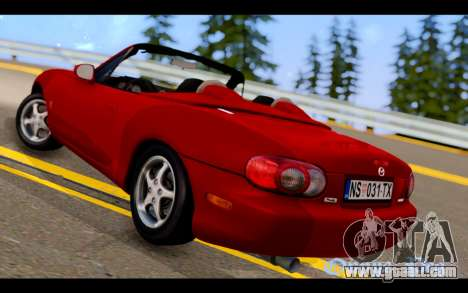 Mazda MX-5 for GTA San Andreas left view