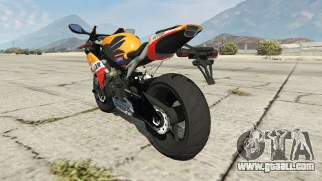 GTA 5 Honda CBR1000RR [Repsol] rear left side view