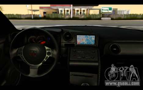 Nissan GT-R Policija for GTA San Andreas inner view