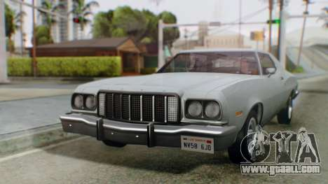 Ford Gran Torino 1974 IVF for GTA San Andreas back left view