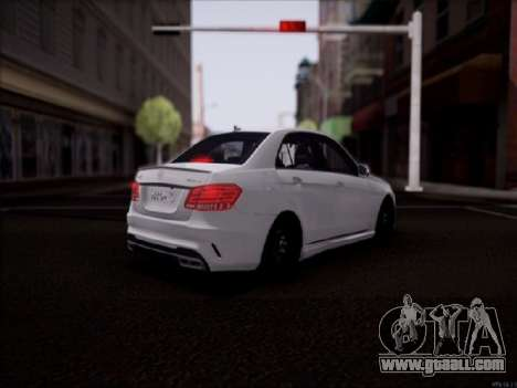 Mercedes-Benz E63 for GTA San Andreas back left view