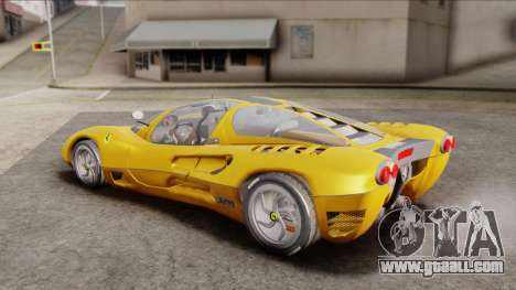 Ferrari P7 Normal for GTA San Andreas back left view