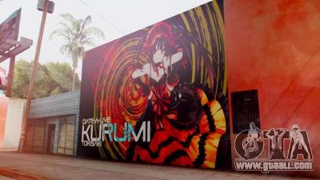 Kurumi Tokisaki Graffiti for GTA San Andreas second screenshot