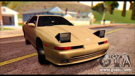 Toyota Supra MK3 Tunable for GTA San Andreas back left view